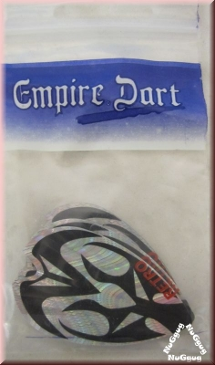 "Empire Dart, Fly-Set ""Retro Metallic 2D"", silber/schwarz"