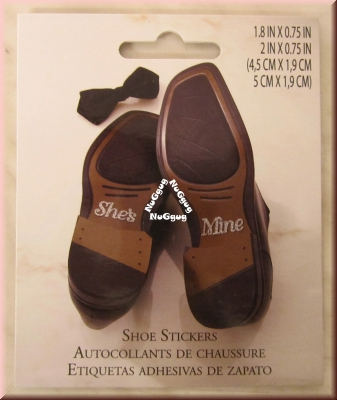 "Lillian Rose Shoe Stickers ""She's Mine"", Artikel WF674 SM"