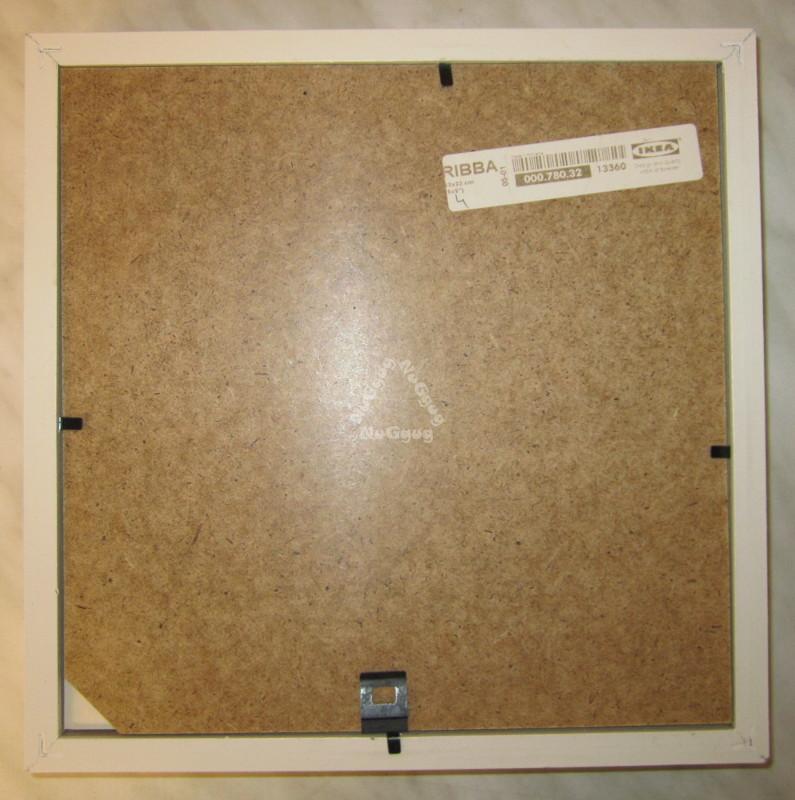 NuGgug - Bilderrahmen Ikea RIBBA, weiss, 25,5 x 25,5 cm, für Bilder ...