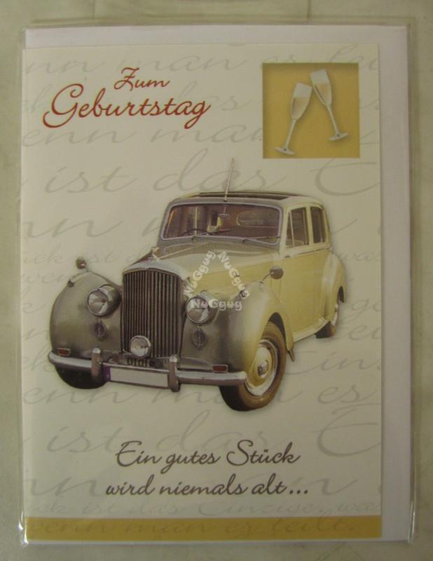 Nuggug Geburtstagskarte Ein Gutes Stück Mit Umschlag Motiv Auto