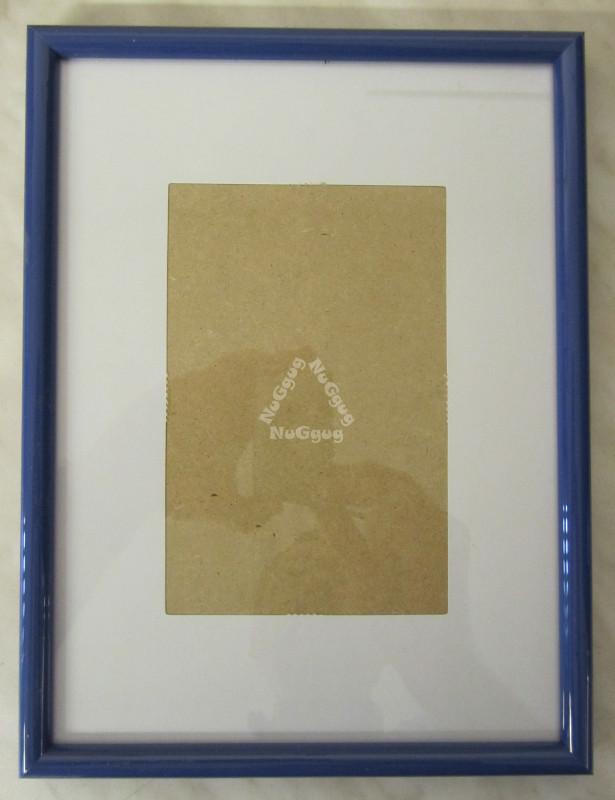 NuGgug - Bilderrahmen Kunststoff, blau, 19,0 x 25,0 cm, für Bilder ...