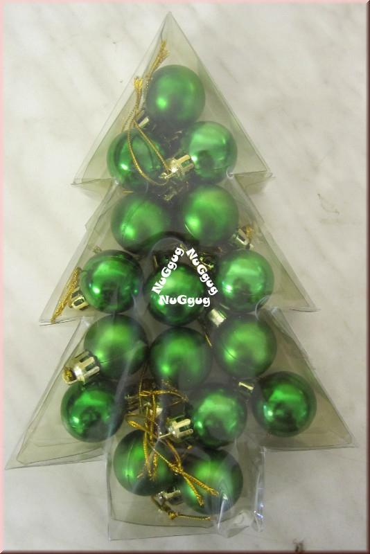 Christbaumkugeln Mini.Mini Christbaumkugeln Weihnachtkugeln Grun 16 Stuck