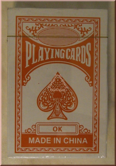 Pokerkarten, Playingcards, rot