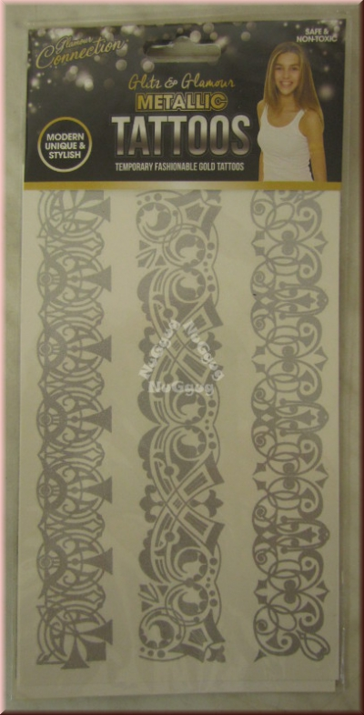 "Metallic Tattoos Motiv ""Celtic"", silber"