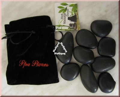 Hot Massage Stones Set, Spa Stones, Ellness Hot Stones, 9 Stück