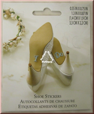 "Lillian Rose Shoe Stickers ""I Do"", Artikel WF674 ID"
