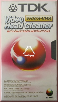 TDK VHS Video Head Cleaner. Videokopfreiniger